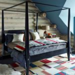 Boho cozy Colorado Cabin by Thom Filicia - master bedroom