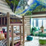 Boho cozy Colorado Cabin by Thom Filicia - children's bedroom