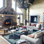 Boho cozy Colorado Cabin by Thom Filicia - living room 1