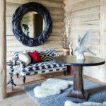 Boho cozy Colorado Cabin by Thom Filicia - entry