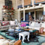 Boho cozy Colorado Cabin by Thom Filicia - living room 2
