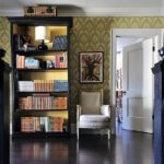 A Boho Classic Revisited: 'Novel Interiors' - hallway bookshelf