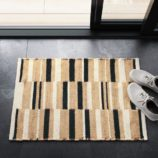 Black-Natural-White Stripe Mat