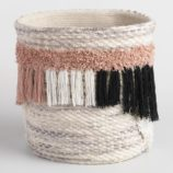 Black and Pink Fabric Ashanti Tote Basket