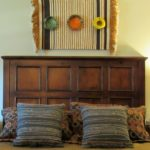 An Easy Way to Hang a Small Rug & More ('Mad Men' Office/Guest Room Redo - 4) - Bed closeup