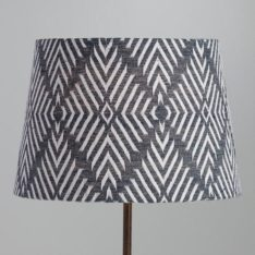 Indigo Blue Tribal Embroidered Cotton Accent Lamp Shade