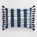 Indigo Tie Dye Ripple Lumbar Pillow