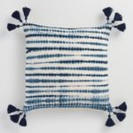Indigo Tie Dye Ripple Throw Pillow