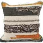Karma Living Rust & Gray Throw Pillow