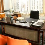 An Easy Way to Hang a Small Rug & More ('Mad Men' Office/Guest Room Redo - 4) - Don Draper's Mad Men desk