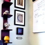 An Easy Way to Hang a Small Rug & More ('Mad Men' Office/Guest Room Redo - 4) - gallery wall closeup