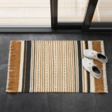 Orange Stripe Accent Rug