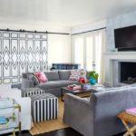 Bold Waves of Pink Make Texas Home Pop - living room