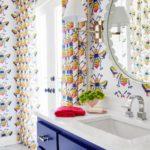 Bold Waves of Pink Make Texas Home Pop - bathroom