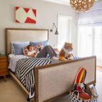 Bold Waves of Pink Make Texas Home Pop - boys bedroom