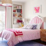 Bold Waves of Pink Make Texas Home Pop - girls bedrom