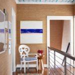 Bold Waves of Pink Make Texas Home Pop - upstairs hallway