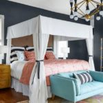 Bold Waves of Pink Make Texas Home Pop - master bedroom