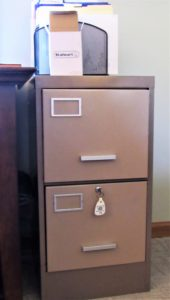 File This Make-Over for Future Reference - file cabinet before