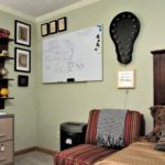 An Easy Way to Hang a Small Rug & More ('Mad Men' Office/Guest Room Redo - 4) - gallery wall after