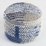 Mood Indigo + World Market = Boho Classic - blue wool pouf