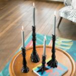 Black Animal Feet Candlesticks, $99