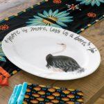 GOT MAIL / Iris Apfel & Grandin Road - ostrich platter cu