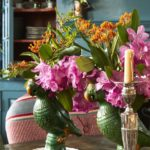 Historical Collectors' Boho, Philly-Style - dining room table closeup