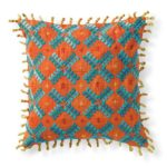 Reversible Embroidered Pillow, $69