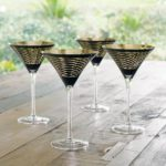 Snakeskin Martini Glasses, $118