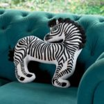 Zebra-Shaped Pillow, $59
